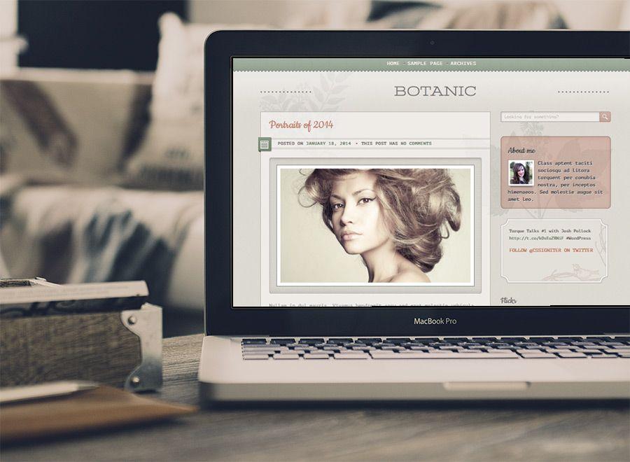Botanic Blogging theme for WordPress Wordpress theme