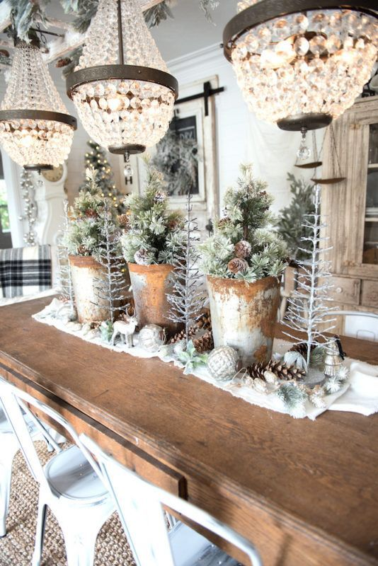 Liz Marie Blog Wintery Dining Room Tablescape  Winter And Custom Walk Through Dining Room Design Inspiration