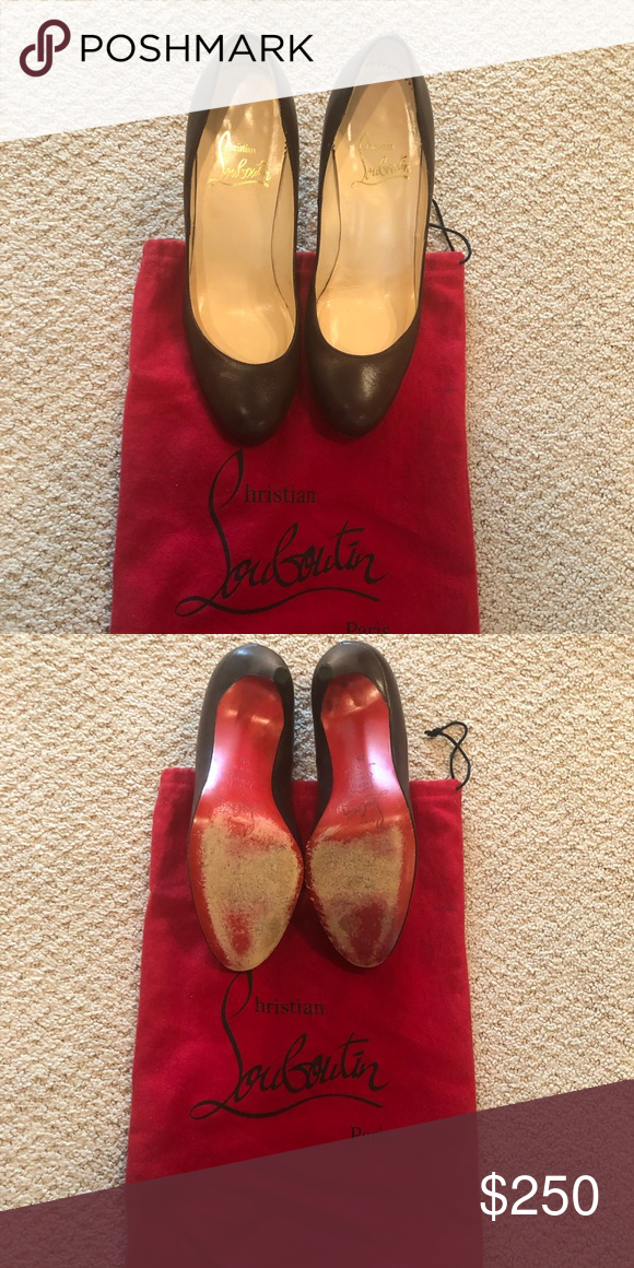 Authentic Christian Louboutin Closed Toe Heel Authentic Christian