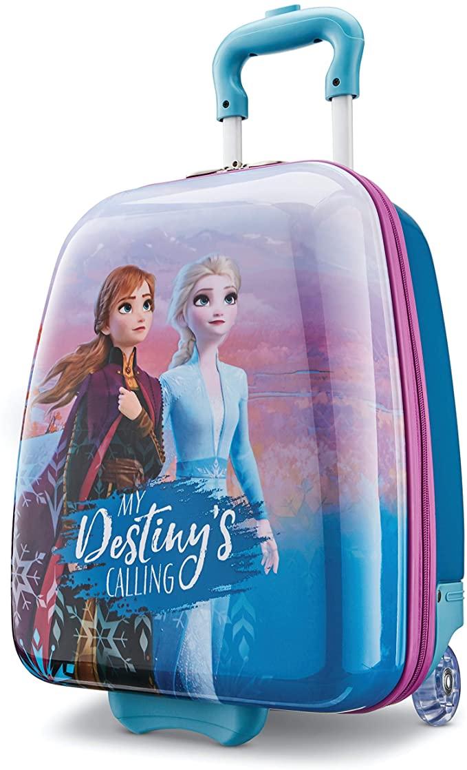 Amazonsmile American Tourister Kids Disney Hardside Upright Luggage Frozen Destiny Carry On 16 Inch 128401 4427 Ca Frozen Kids Kids Luggage Frozen Toys