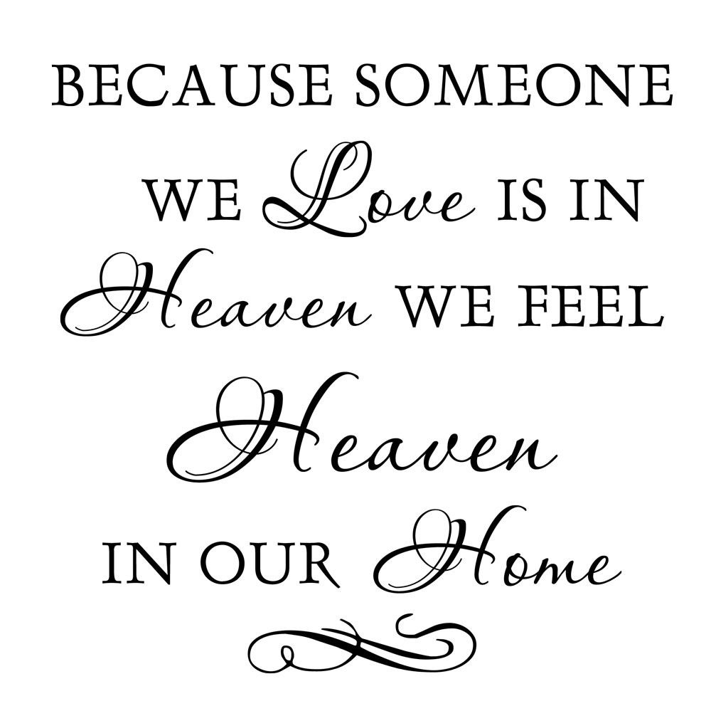 Download Because Someone We Love Is In Heaven   Dad   Vinyl quotes ...