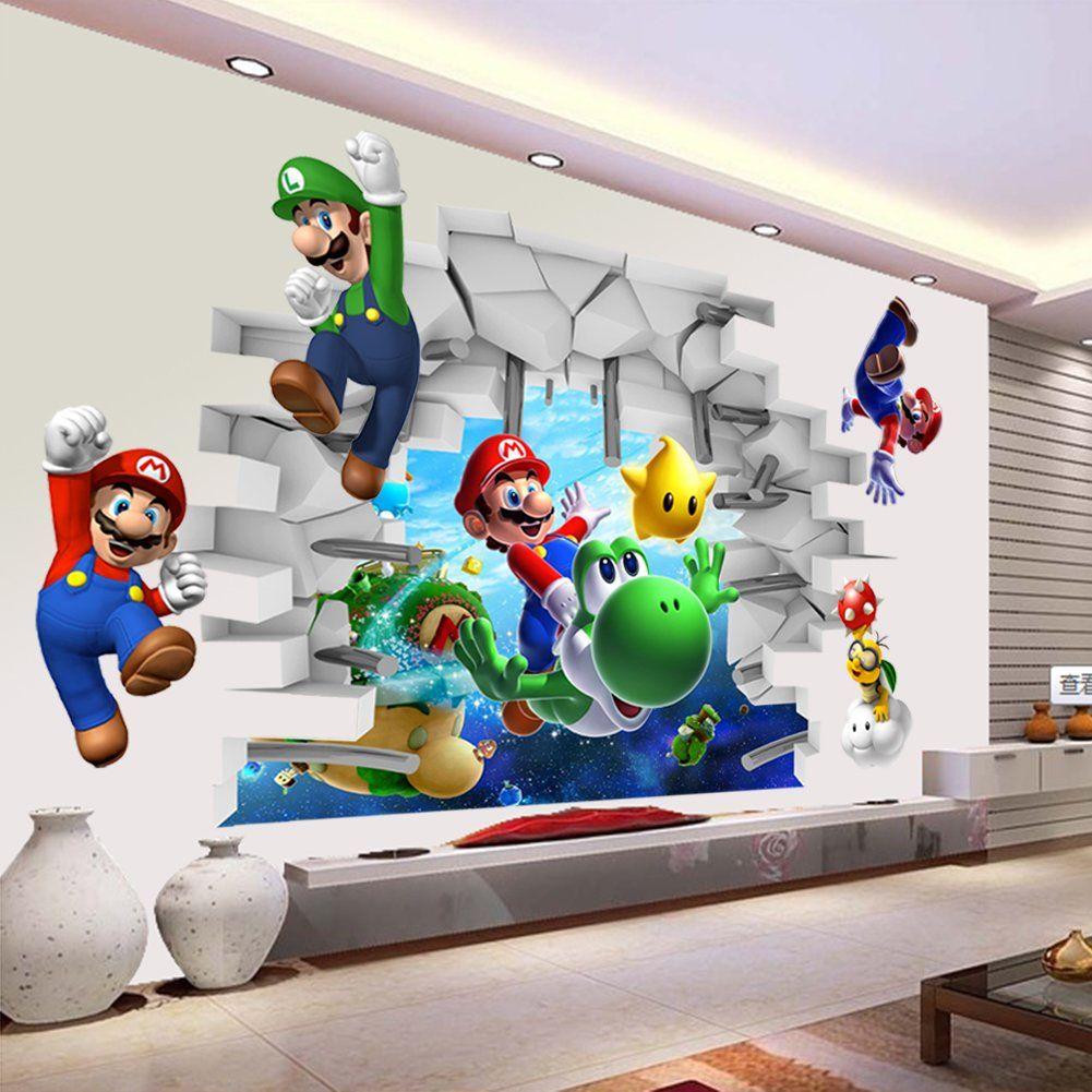 Kids bedroom Mario And Luigi Wall Art Stickers