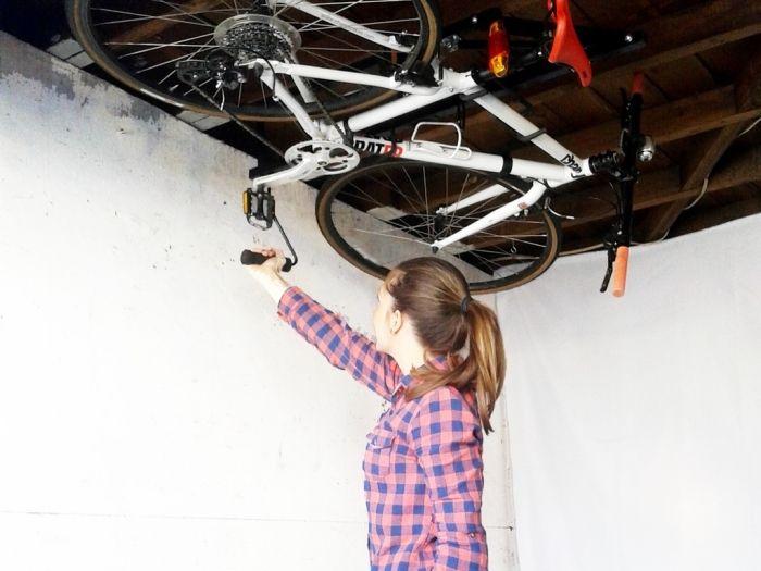 自転車の収納はお部屋のアソコを使えばよかったんだ 自転車 室内