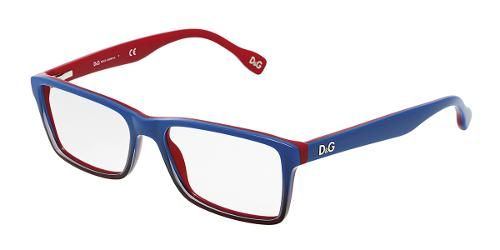 f3ef59da5b Dolce & Gabbana Eyewear: model DD 1233 - Men Ophthalmic Collection.  Plastic. Glasses with Blue Gradient on Red Frame in Plastic.