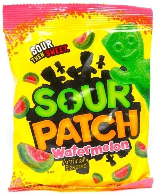 Sour Patch Watermelon Soft Chewy Candy In 2020 Sour Patch Watermelon Sour Patch Kids Gummy Candy