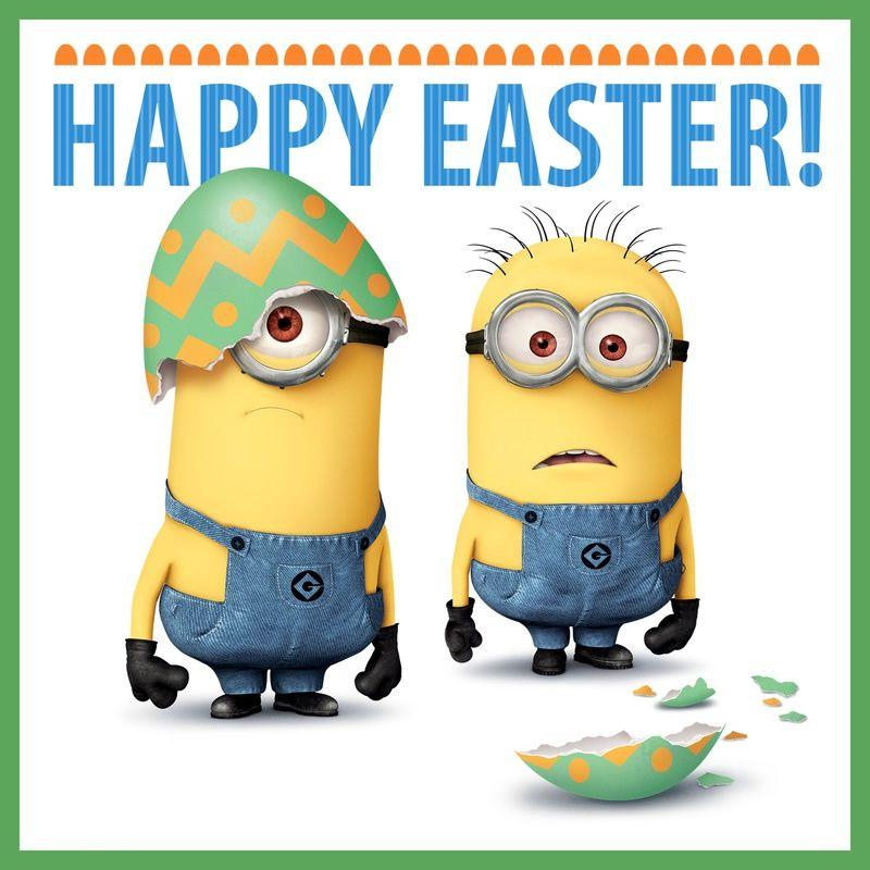 Happy Easter bild #24368 - minions - Bekommt die besten Bilder für euer Gästebuch in der Kategorie Happy Easter.