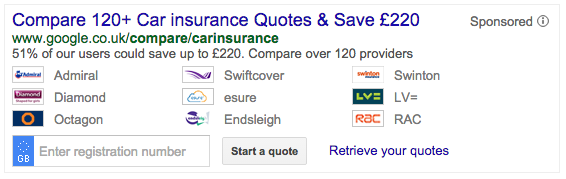 Making The Quote Aggregators Redundant Google Uk Offers Auto