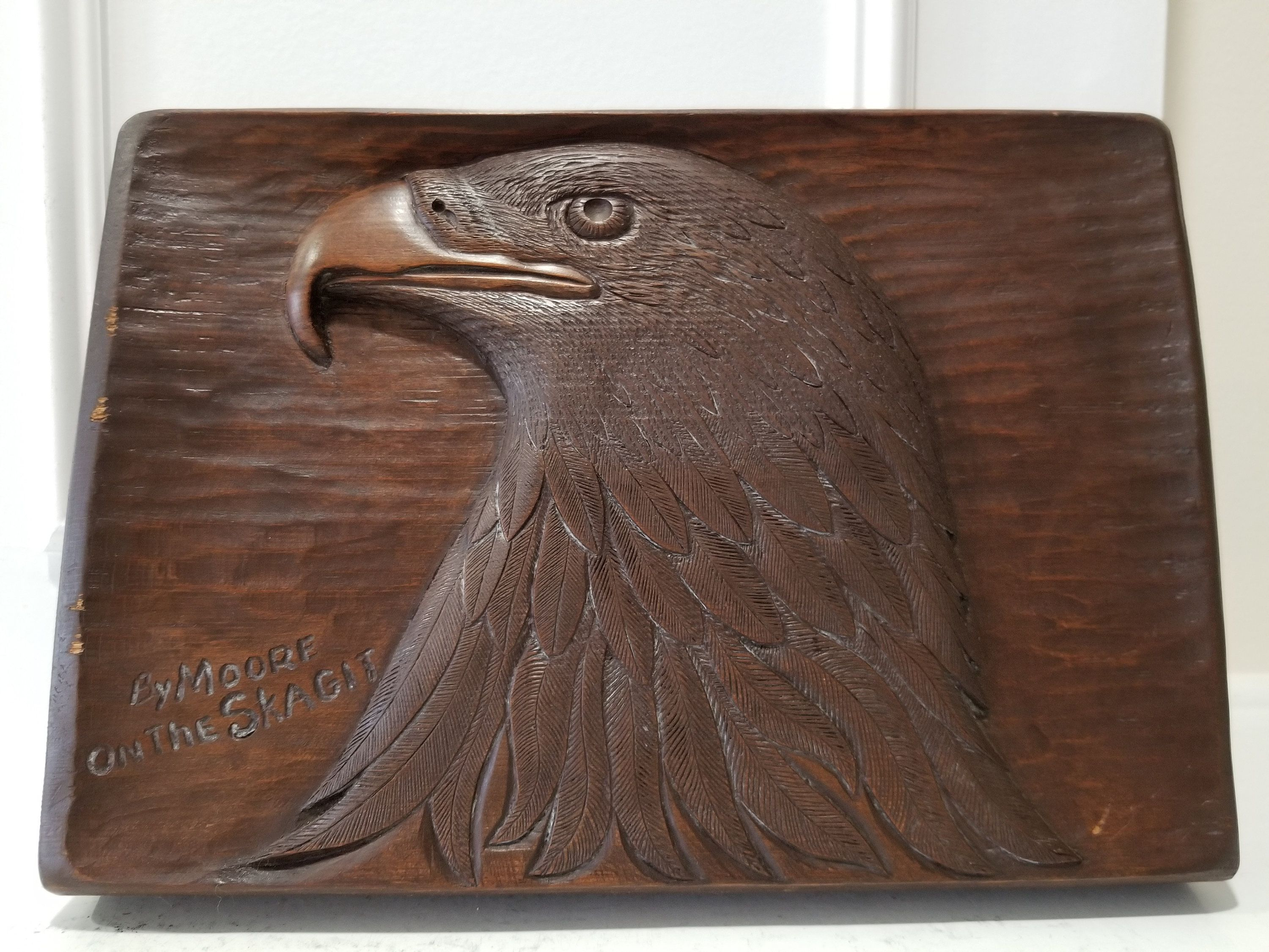 American Eagle Sculpture Wooden Wall Plaque Wall Decor