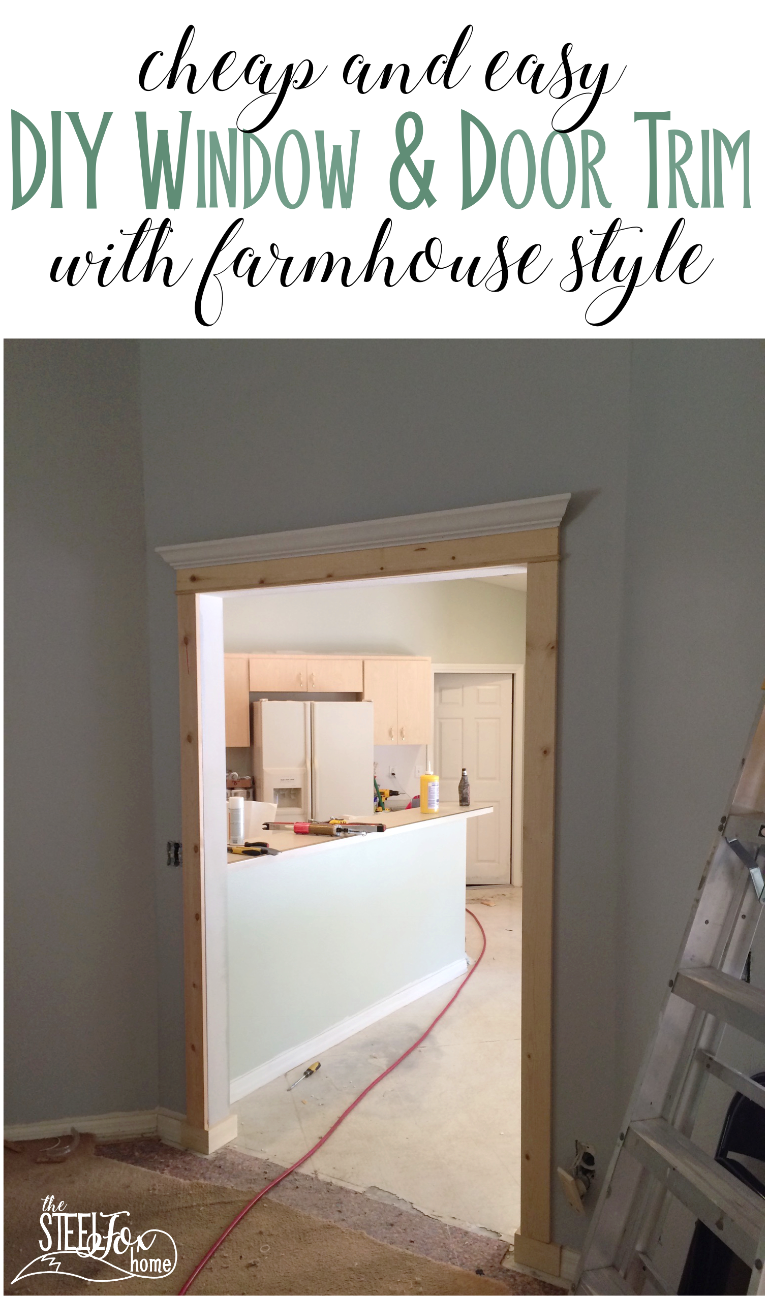 How to install DIY cased openings and custom window and