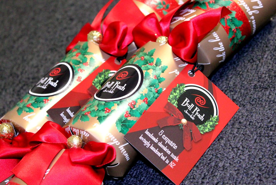 BullRush Chocolate - Christmas Crack label design