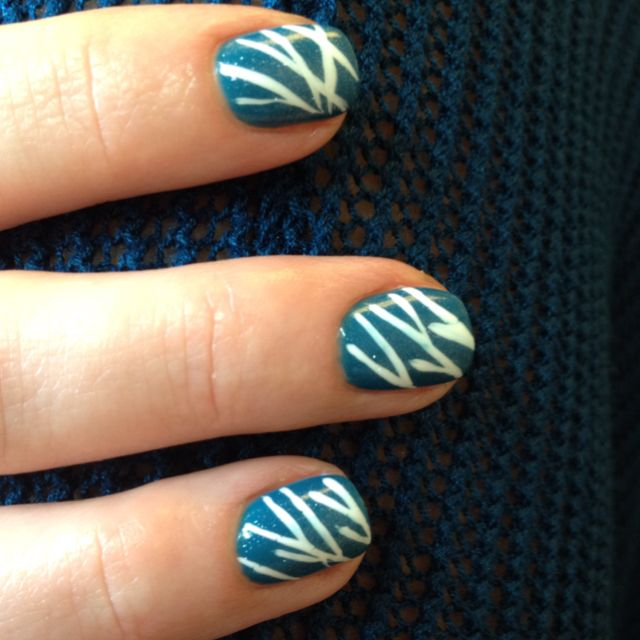 OPI gelcolor Suzi Says Feng Shui with Asian inspired nail art by MT.