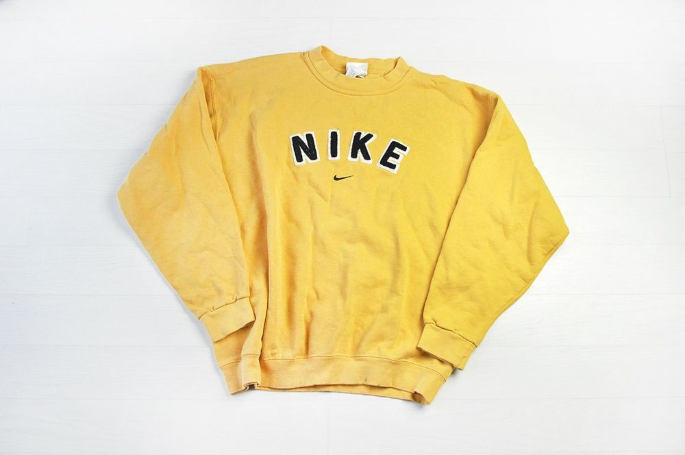 Vintage Nike Yellow Sweater Jumper  9bfc5aa6e58f