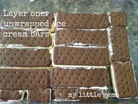 My Little Gems: Easy Layered Ice Cream Cake