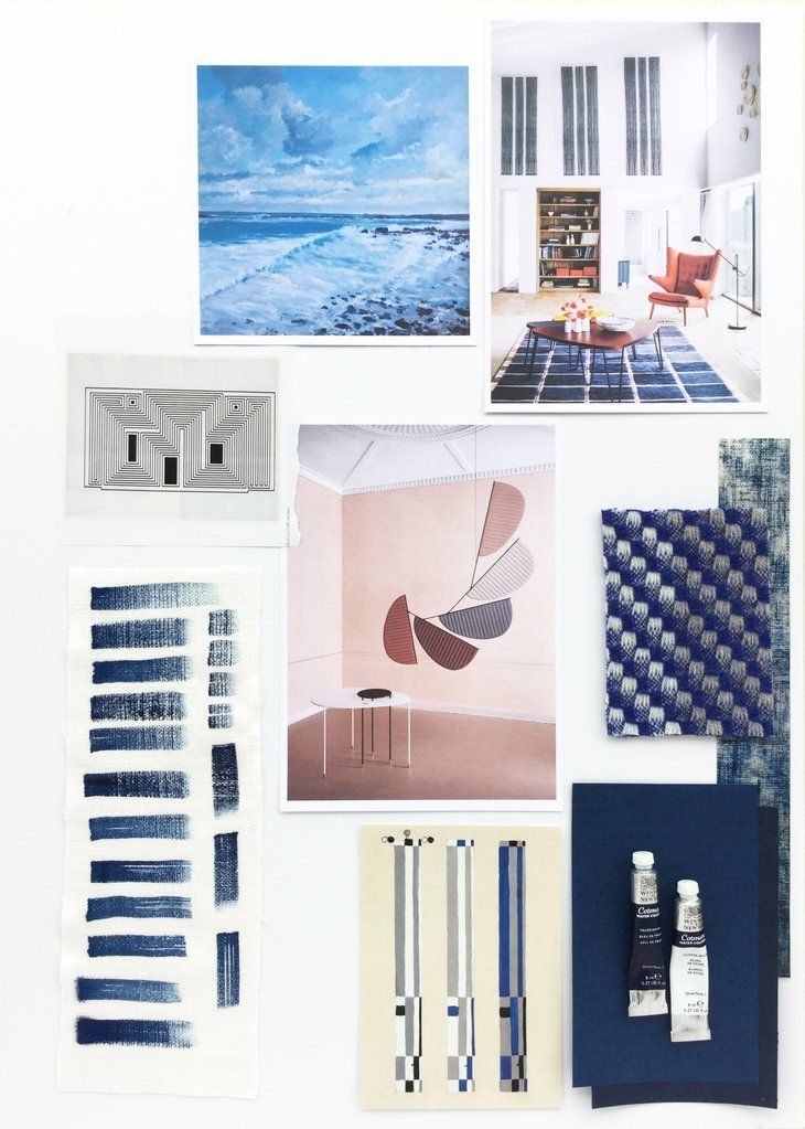 Visual Storytelling and Design Boards BLUE Interior Decor