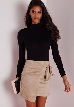 a356fc813 Faux Suede Tie Mini Skirt Camel | Fashion in 2019 | Skirts, Mini ...