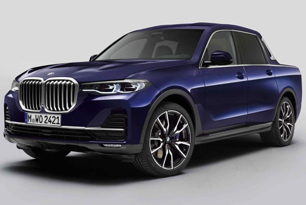 The Bmw X7 Pick Up Is A Concept That Hopefully Becomes Reality Men S Gear Bmw Bmw X7 Bmw Truck