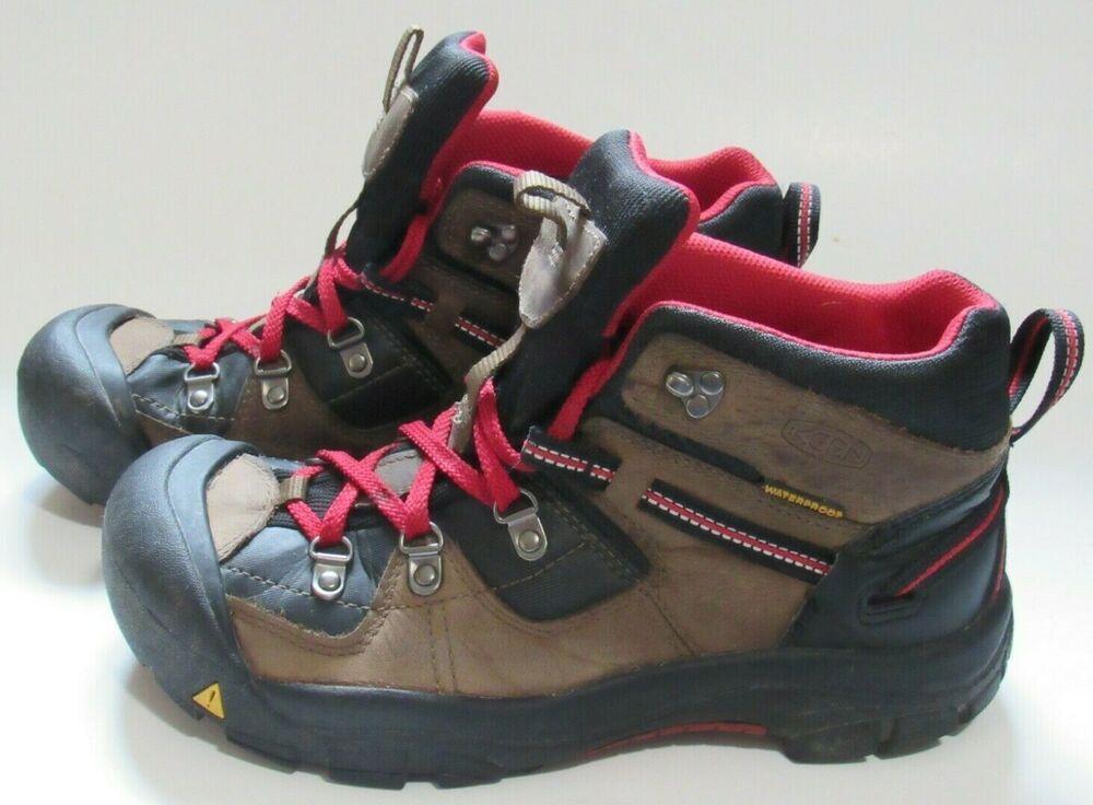 KEEN Boys Hiking Waterproof Boots Size