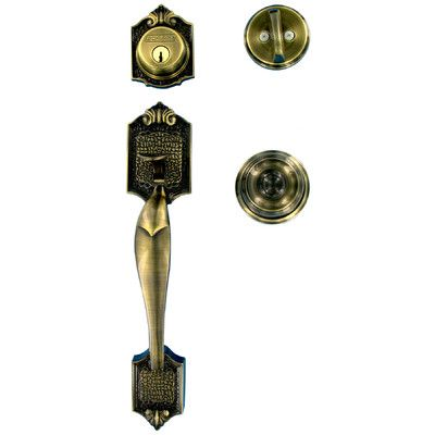Schlage Georgian Single Cylinder Entrance Handleset | Entry DOORS ...