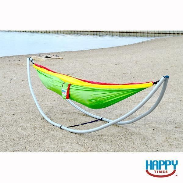happy times portable camping hammock stand   aluminum  u0026 8 piece collapsible  campinghammock happy times portable camping hammock stand   aluminum  u0026 8 piece      rh   pinterest