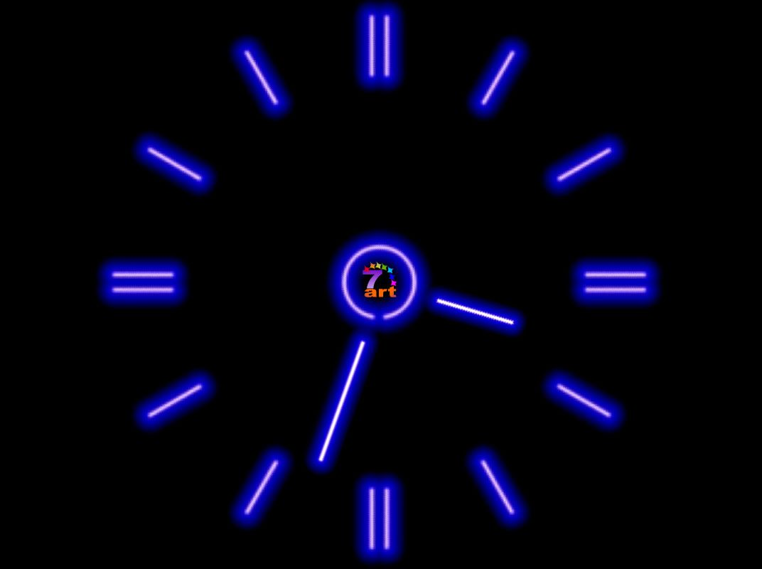 Windows Wallpaper Live Screensaver 7art Fluorescent Clock