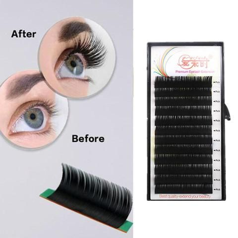 b4823a32b45 NEWCOME Mink Individual Natural Eye Lash Silk Handmade 100% Lash Extension  Heat Resistant Silk Korea Eyelash Extension