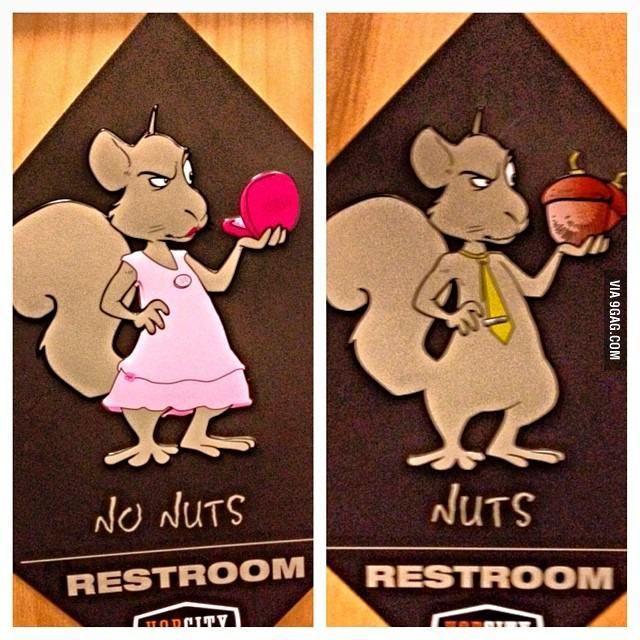 Bathroom Sign Memes no nuts / nuts - bathroom signs | sports food, funny pics and memes