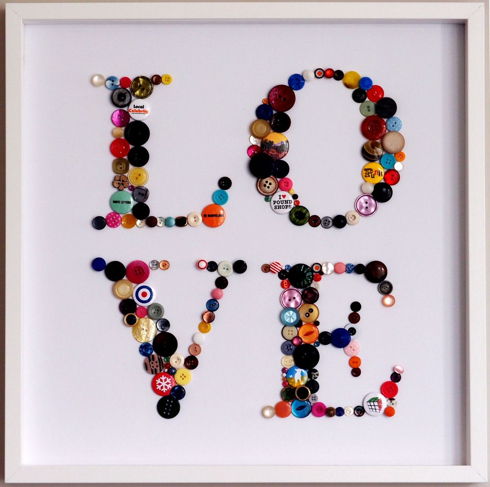 Love button | Cute as a button | Pinterest | Craft, Button wall art ...
