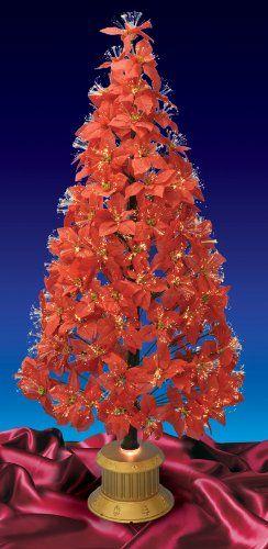 189 99 249 99 6 Foot Pre Lit Fiber Optic Poinsettia Artificial Christmas Tree Item A99360 Features 167 Christmas Tree Fiber Optic Christmas Tree Christmas