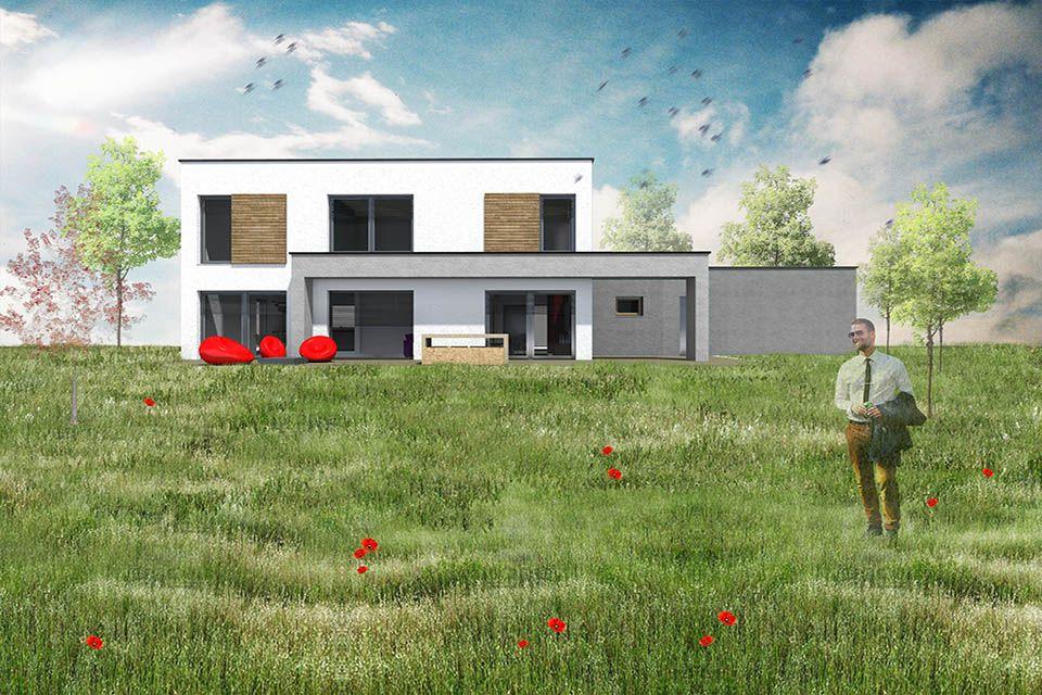 architecture-bois-maison-construction-moselle - Deco Pinterest - modele maison a construire