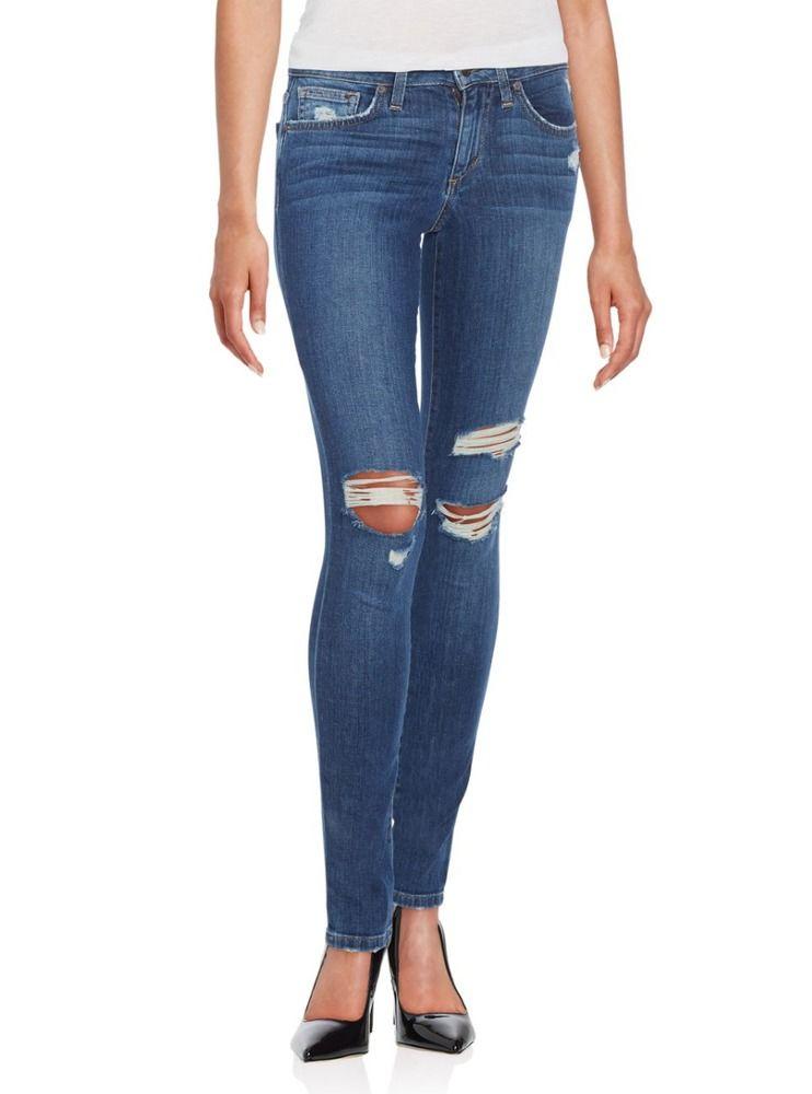 6b159b57fc4 JOE'S JEANS Destroyed Knee Ripped Slim Skinny Ankle Jeans Pants Blue 26  $189 16 #JoesJeans #SlimSkinny
