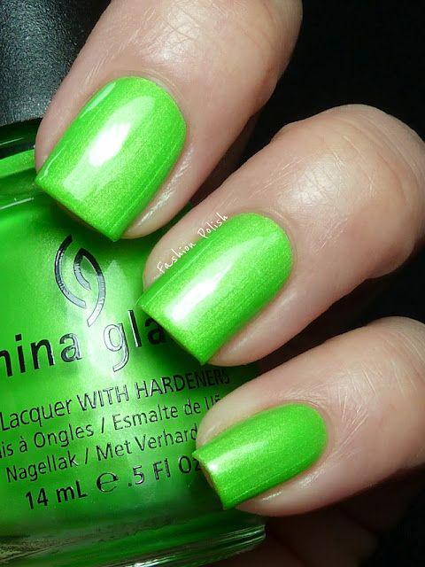 China Glaze Summer Neons Swatches (Fashion Polish) I\'m with the ...