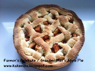 Kakemilla: Farmor's Eplekake (Eggfri) / Grandmother's Apple Pie (Eggless)