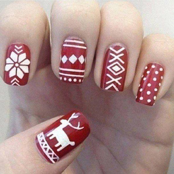 30 Christmas Nails | Hair & Nails, Beauty | Pinterest