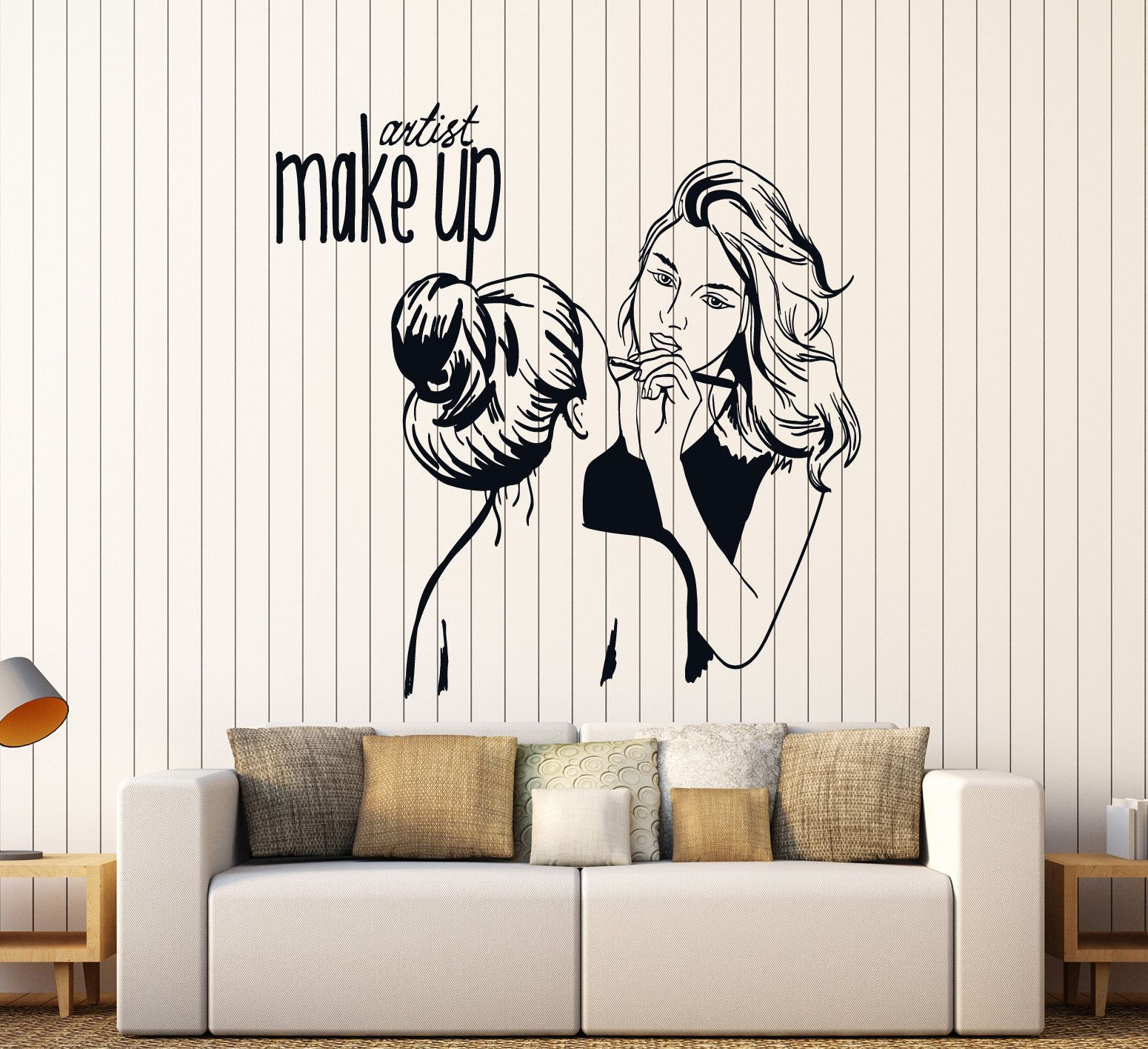 vinyl wall decal make up artist cosmetic beauty salon stickers vinyl wall decal make up artist cosmetic beauty salon stickers mural ig4535