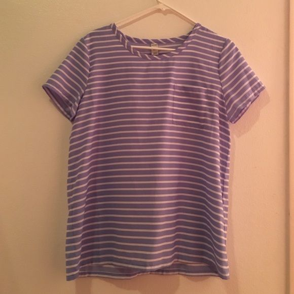 Silty blue and white striped shirt Small pocket in the front Old Navy Tops Blouses