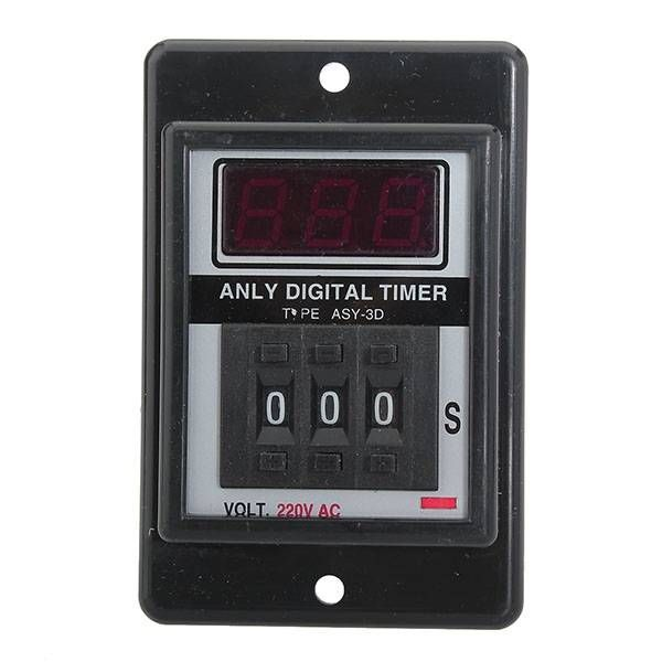 ANLY ASY-3D Digital Time Relay AC220V 50 60Hz Digital Timer - new blueprint digital timer 240v