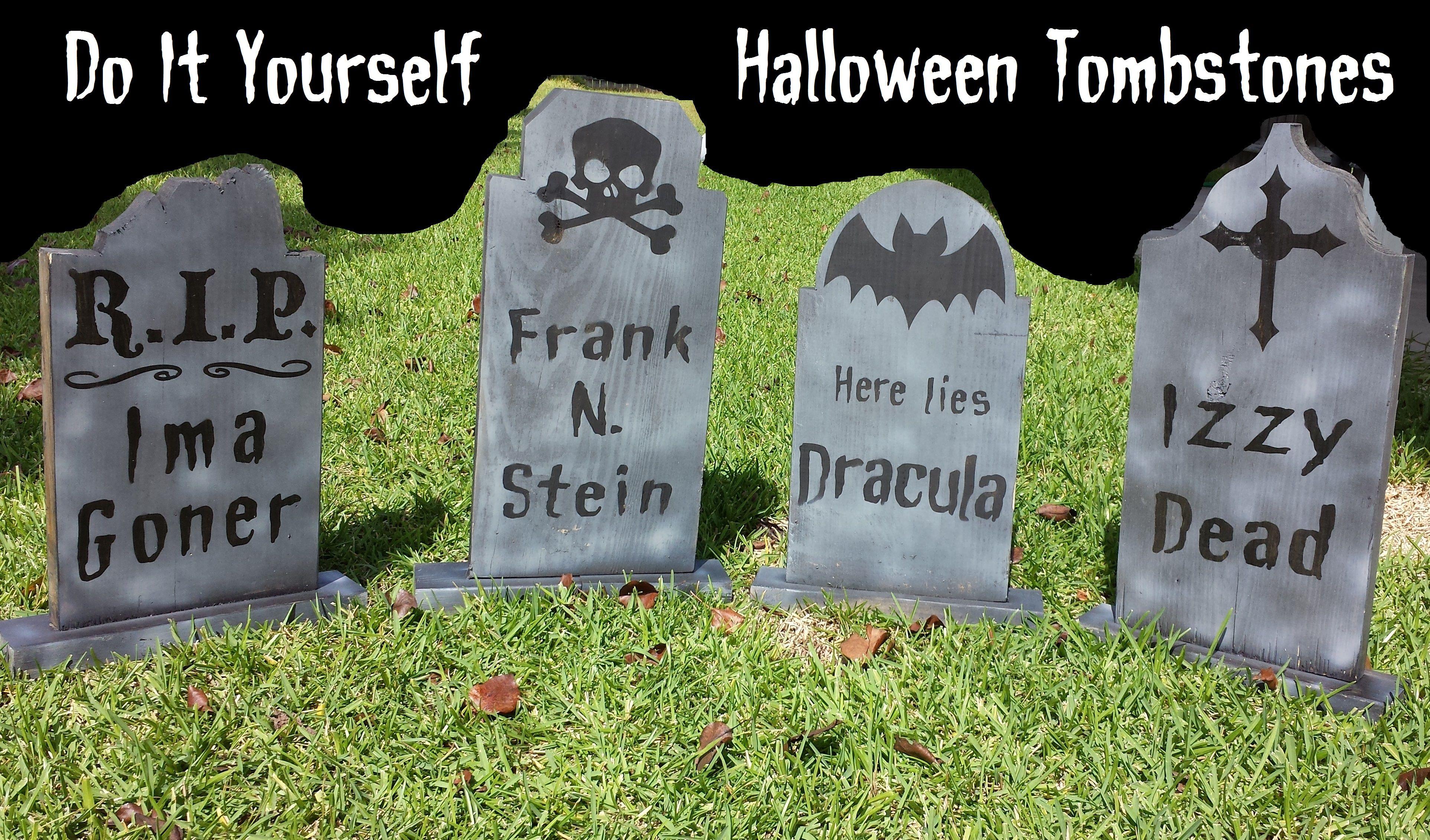 diy graveyard tombstones | halloween | pinterest | halloween