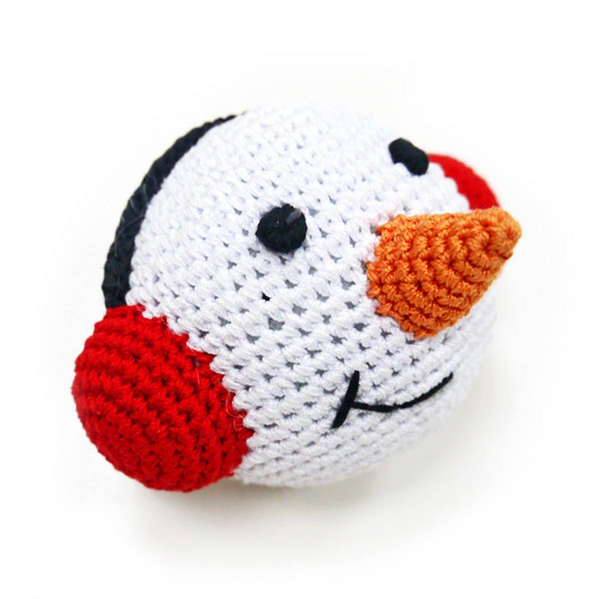 Snowman Ball Crochet Dog Toy by Dogo