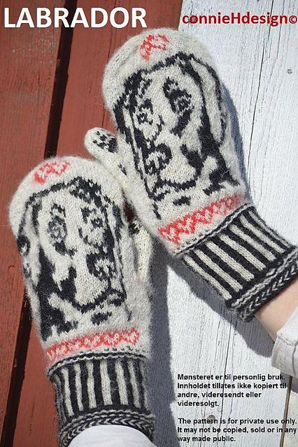 Labrador Mittens pattern by Connie H Design | Abuelas, Lana y Tejido