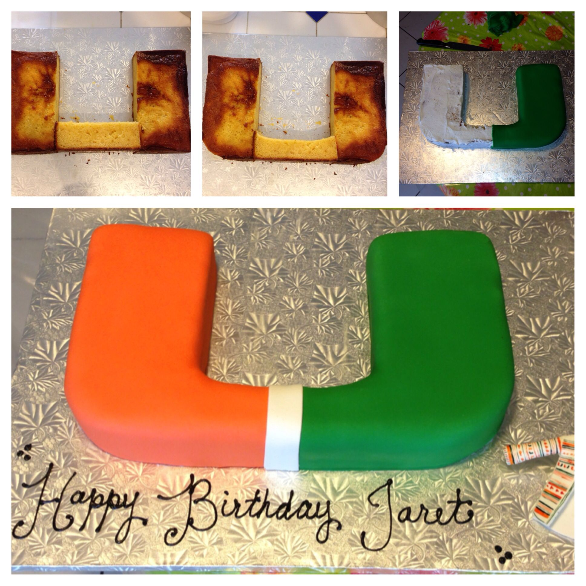 How the University of Miami cake is done Sweet Treats by Marta