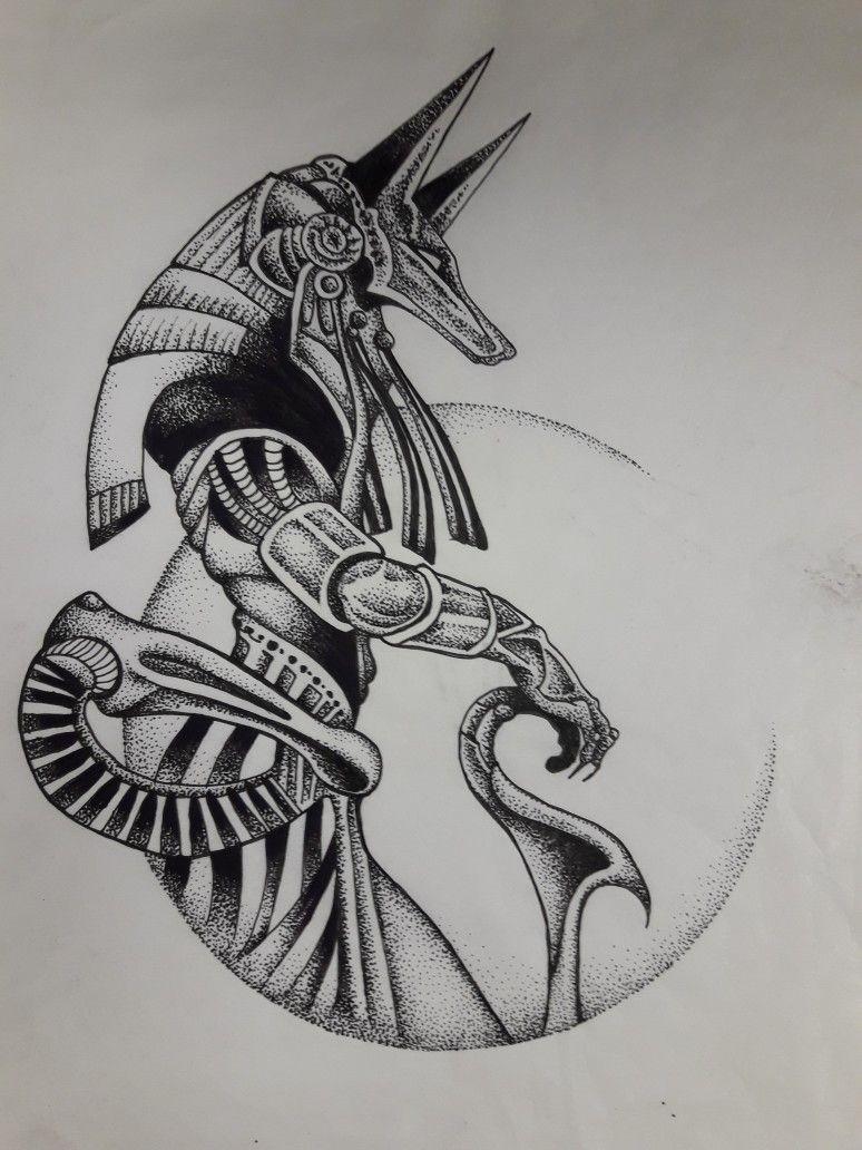 Pin By Vinco Janina On Tetovanie In 2020 Egyptian Tattoo Egypt Tattoo Design Anubis Tattoo