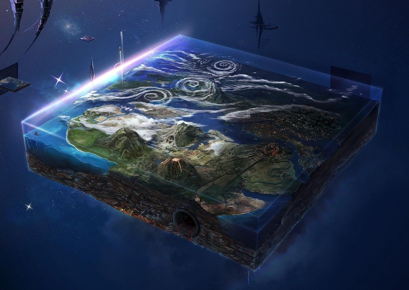 Flat Earth - Map Chinoiserie Wallpaper (With Images) Wallpaper