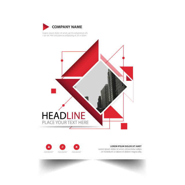 Abstract flyer report | Free Brochure Template Download | Graphic