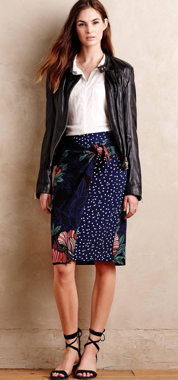 Petal-Pop Wrap Skirt