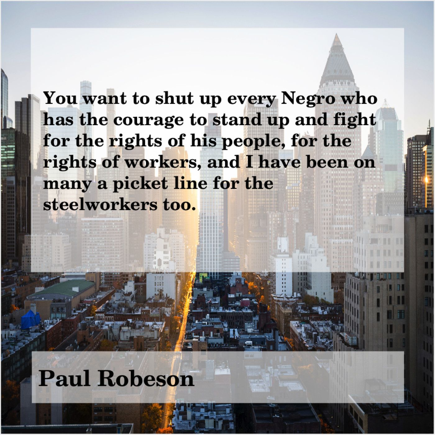 Paul Robeson You Want To Shut Up Randy Newman Bobby Sands Mark
