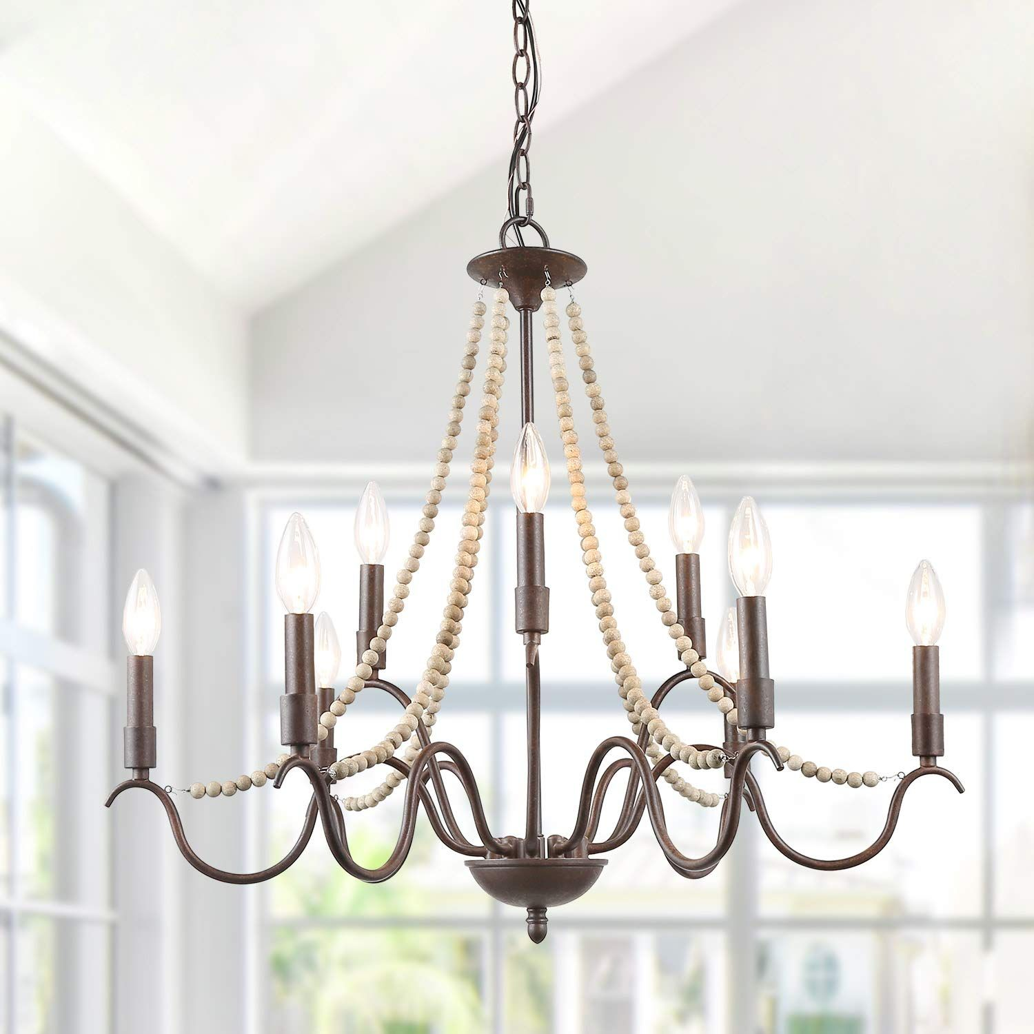 Chandelier Diningroom Affiliate Laluz White French Country