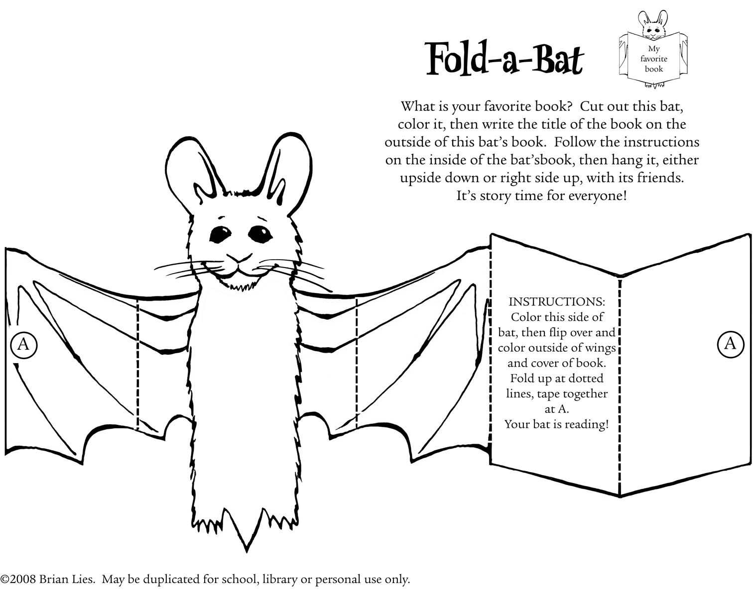 From The Author And Illustrator Of Bats In The Library By