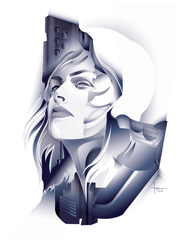 Ghost In The Shell Kusanagi Vector Tribute By Orlando Arocena Mexifunk On Behance Anime