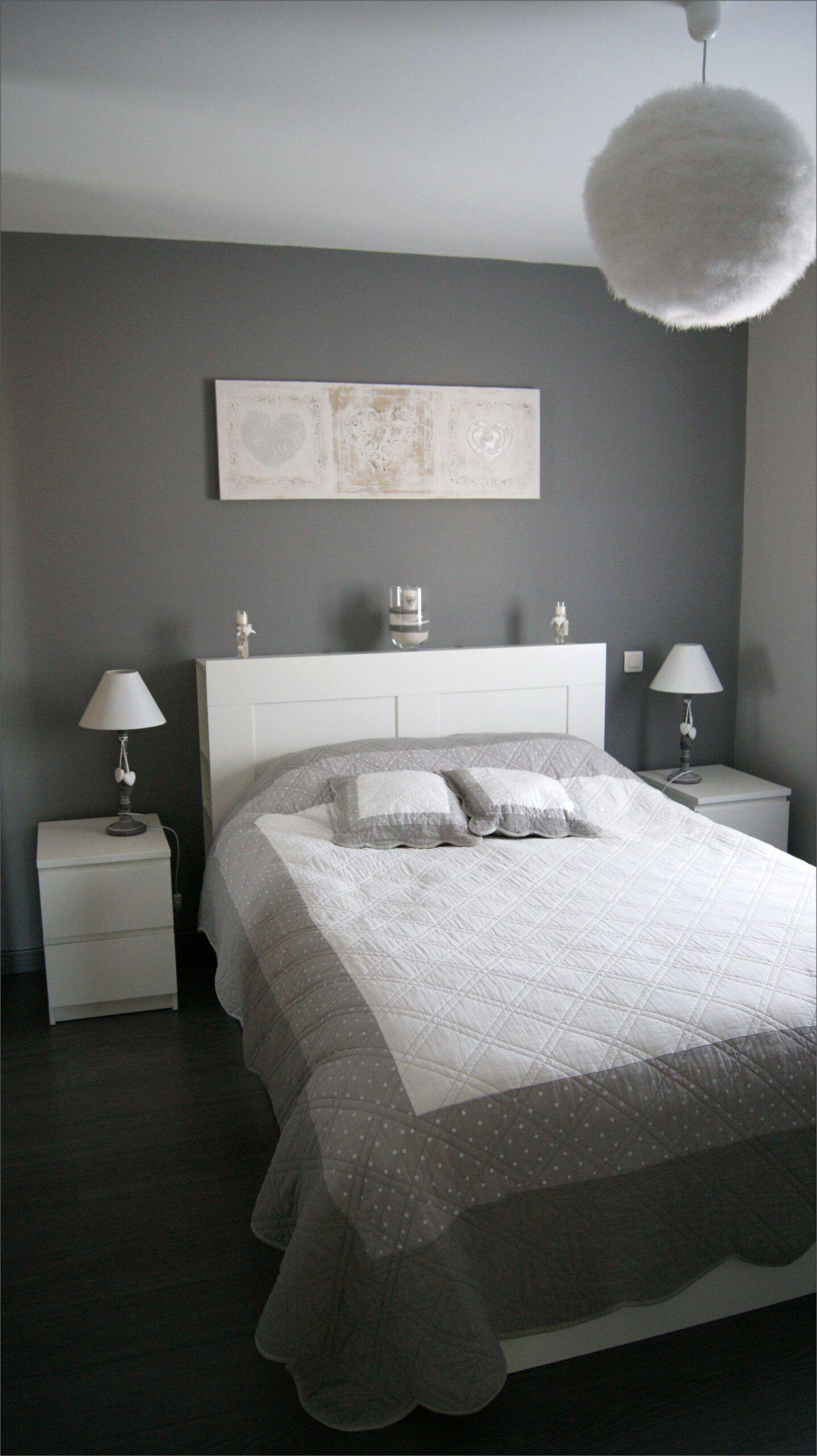 Deco Blanc Et Beige Chambre en 18  Casas con piso gris
