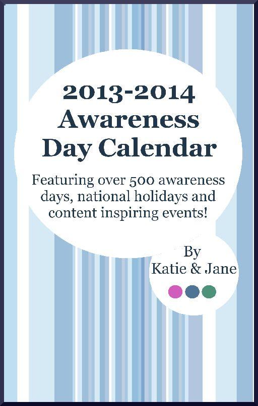 content calendar - awareness day calendar work Pinterest